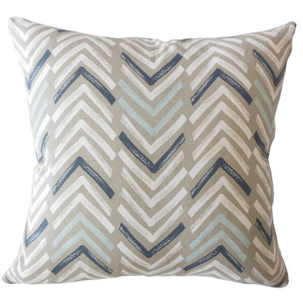 Kristine Geometric Down Filled 100% Cotton Throw Pillow by Corrigan Studio